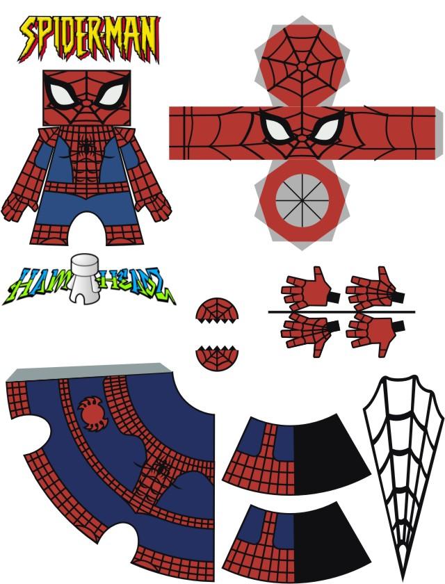 Spider-Man template by Newobmij on DeviantArt