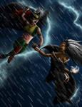Hawkgirl vs. Storm