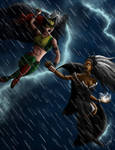 Hawkgirl vs. Storm by 2lazy2talk