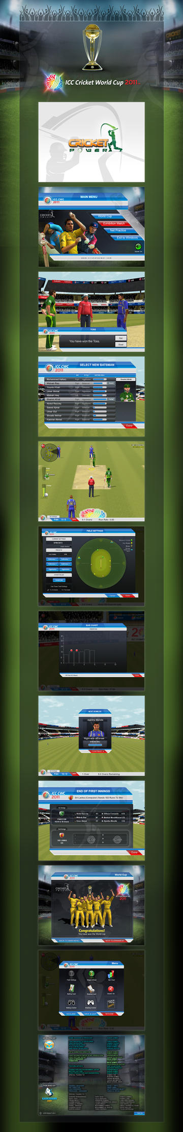 ICC World Cup Game Interface by workstation