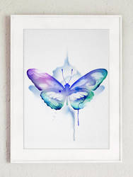 Watercolor Butterfly E1 by New-Creations-21