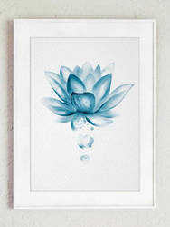 Watercolor Lotus Minimalist Flower by New-Creations-21