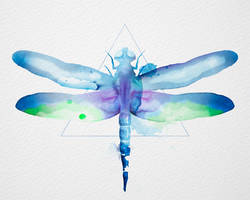 Watercolor Dragonfly by New-Creations-21