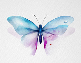 Watercolor Butterfly full version by New-Creations-21