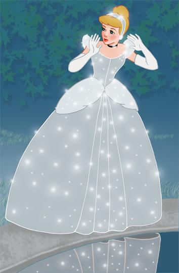 Cinderella Gets Her Dress by snowsowhite