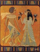 Smenkhkare and Meritaten by snowsowhite