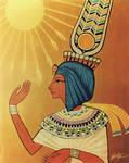 Ankhesenamen Golden Aten Thron
