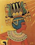 Tutankhamun OnAtenGoldenThrone