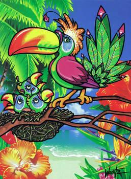 Fantastic Tropical Bird