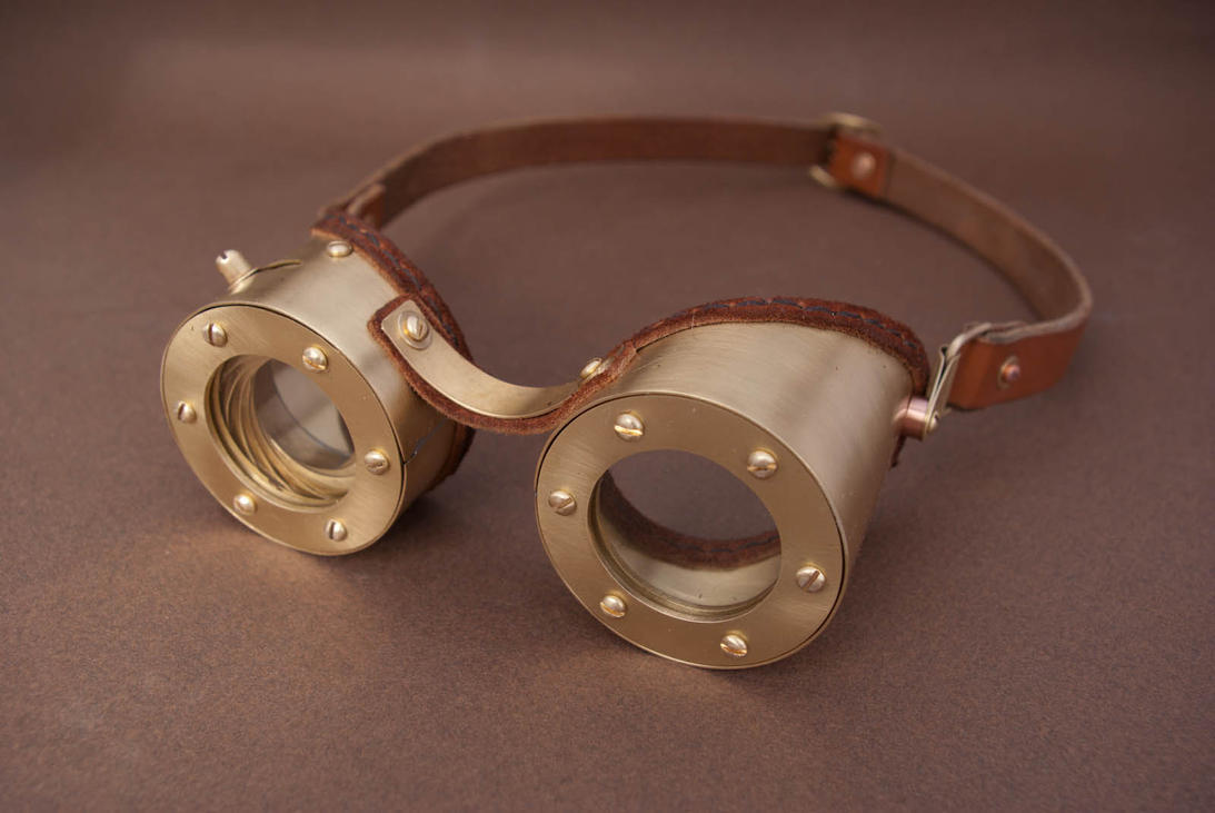 Steampunk Goggles with adjustable Iris by Haraldr32