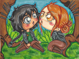 HG Katniss and Foxface encounter by Shinku-chan