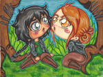HG Katniss and Foxface encounter