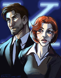 scully + mulder by sixgunsalute