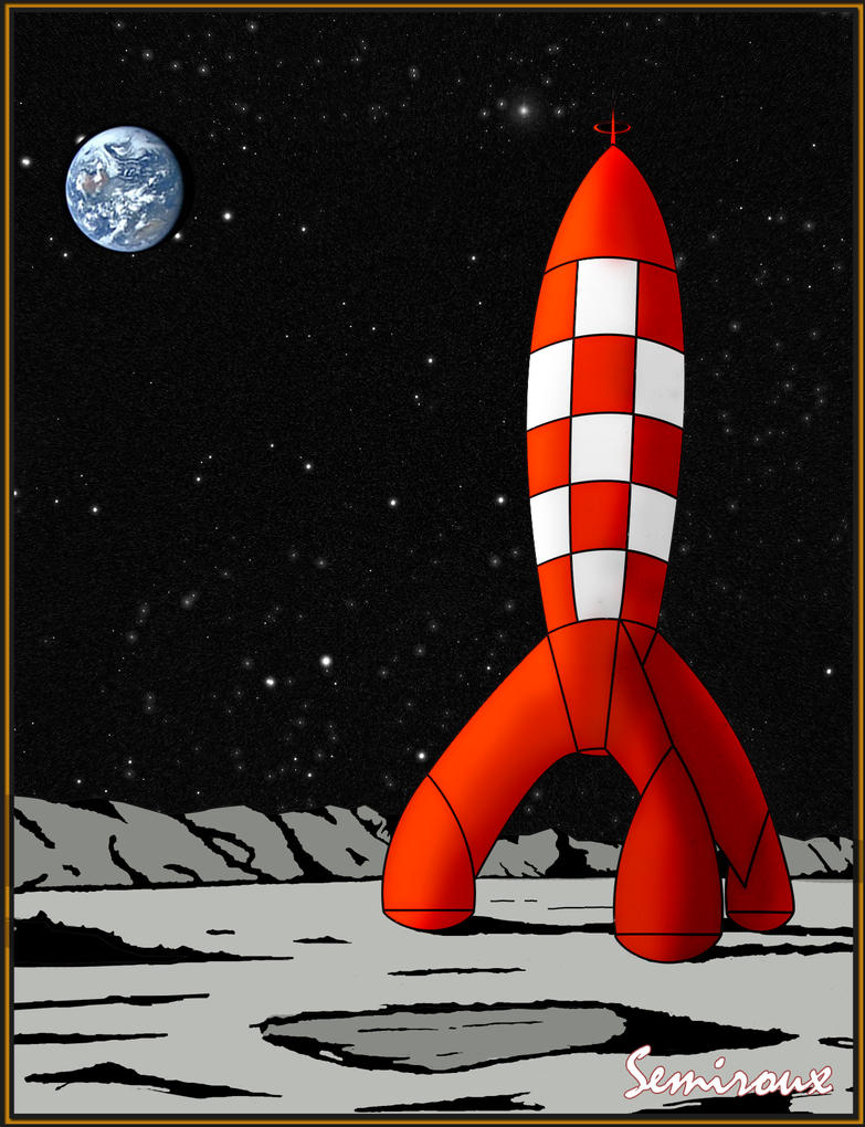 Tintin lune fusee by semiroux on deviantart - Image fusee tintin ...