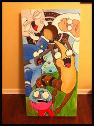 Regular Show Cornhole Board by Frazzy626