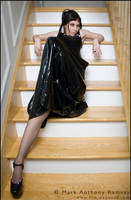 PVC dress and long sexy legs by Film-Exposed