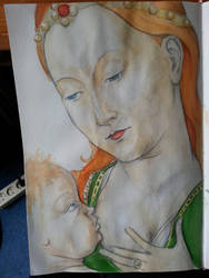 Madonna and Child by Psychedelic-PURR