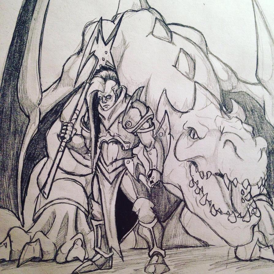 Dragon rider by ZeePolarBear