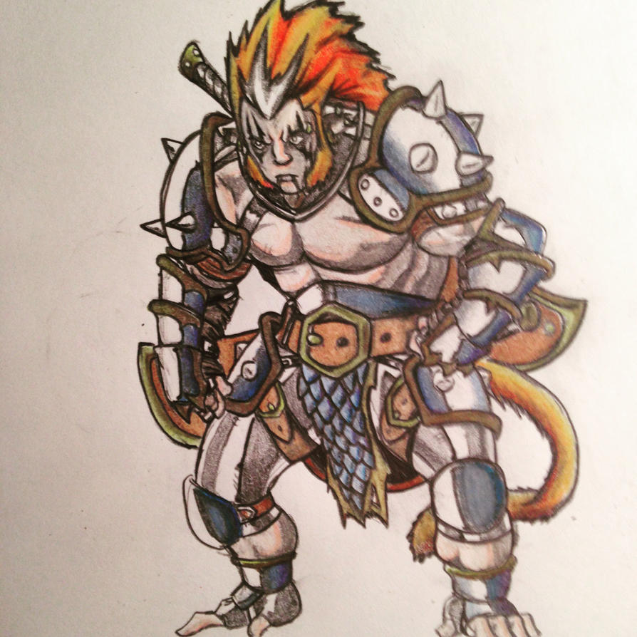 Monkey man warrior by ZeePolarBear