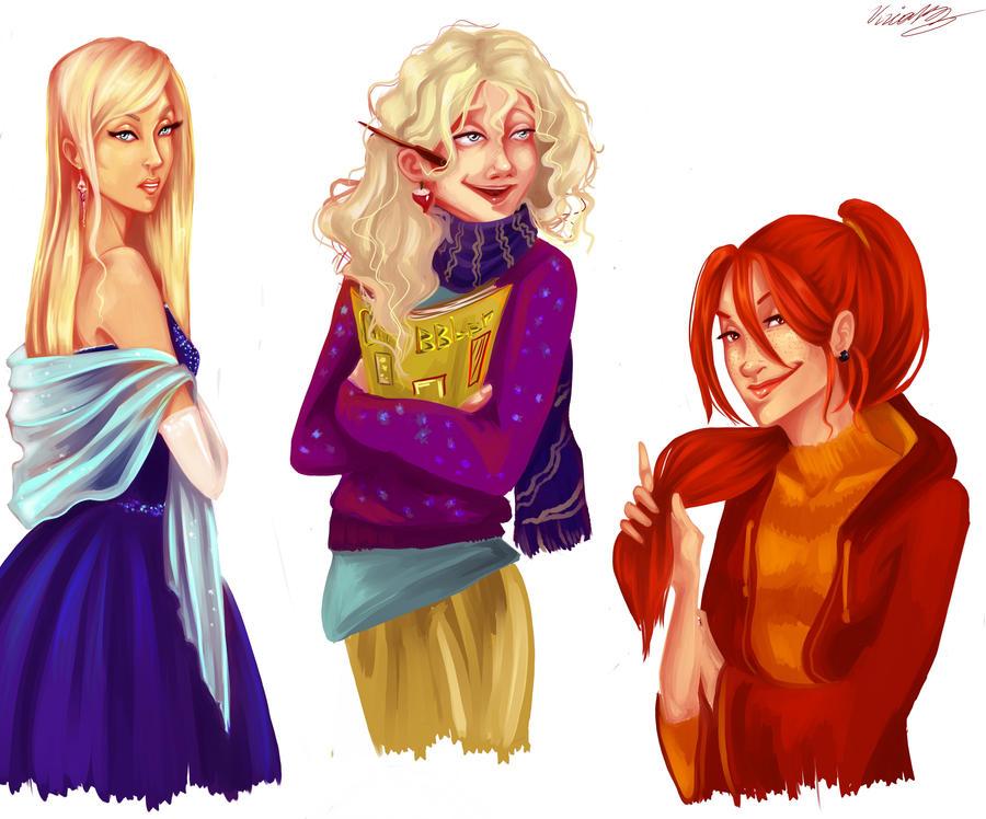 Ginny,Luna,Fleur by viria13