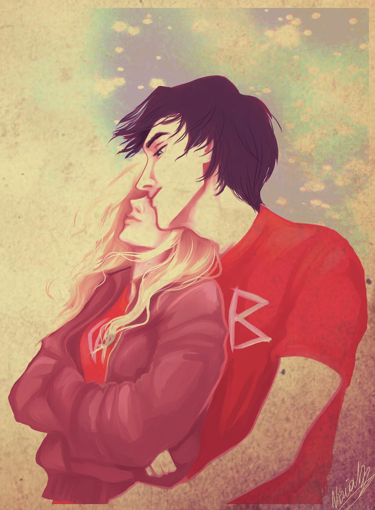 Percy and Annabeth by viria13