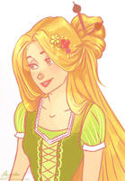 Rapunzel. by viria13
