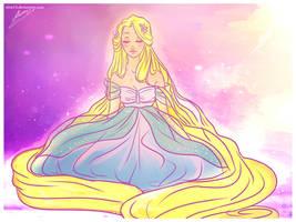 flower,gleam and glow by viria13