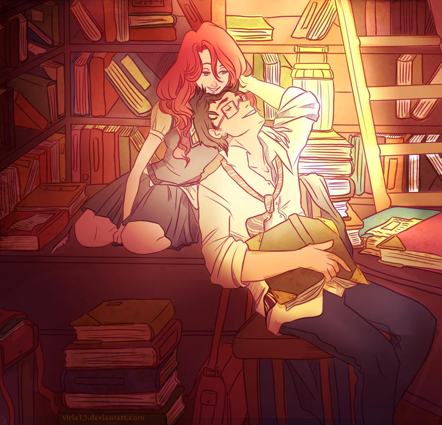 James and Lily are studying. by viria13