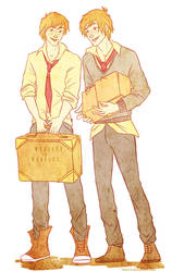 Weasley twins by viria13