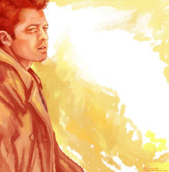 Supernatural:Castiel by viria13