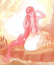 pink mermaid by viria13