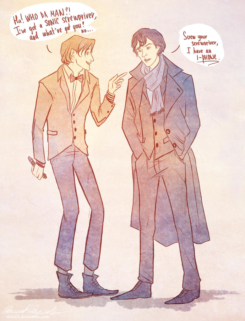 The Doctor VS Sherlock by viria13