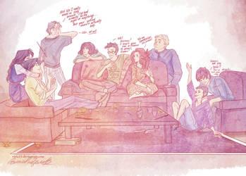when Remus wanna sleep.... by viria13