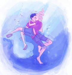 the best underwater kiss ever by viria13