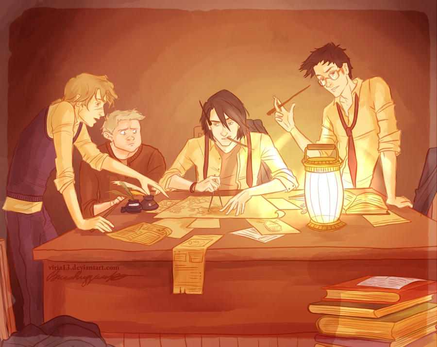 The Making Of Marauders Map By Viria13