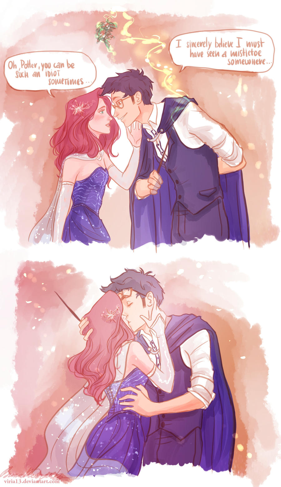 I must have seen a mistletoe somewhere.. by viria13