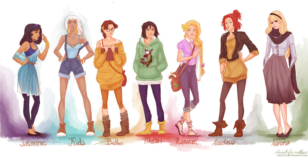 fashion princesses P2 by viria13 on DeviantArt
