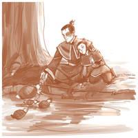 feeding turtleducks by viria13