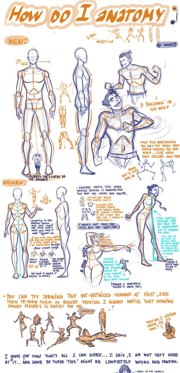 How do I anatomy? by viria13 on DeviantArt
