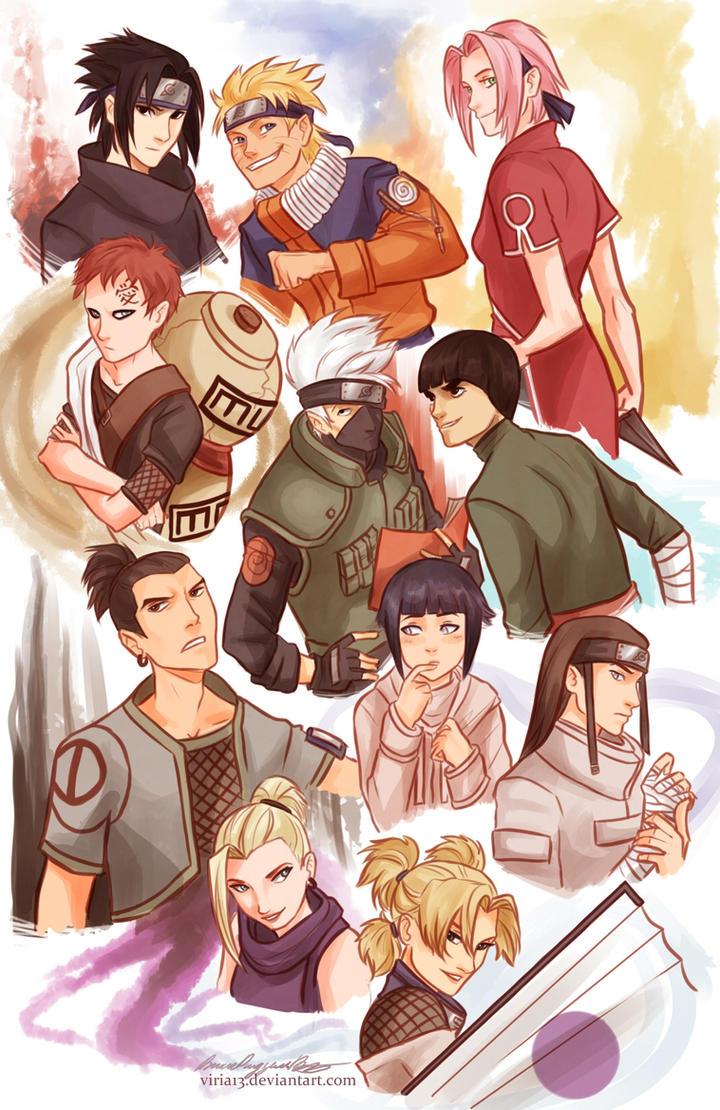 Naruto characters by viria13