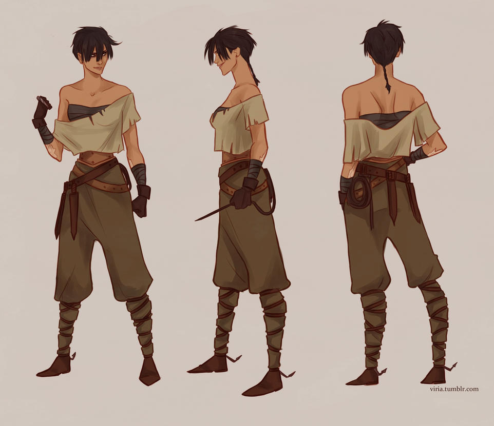 Fantasy Character Design Sheet : Shila by viria on deviantart