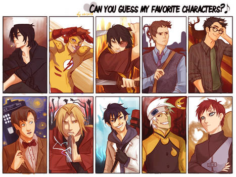 can you guess my fave characters?