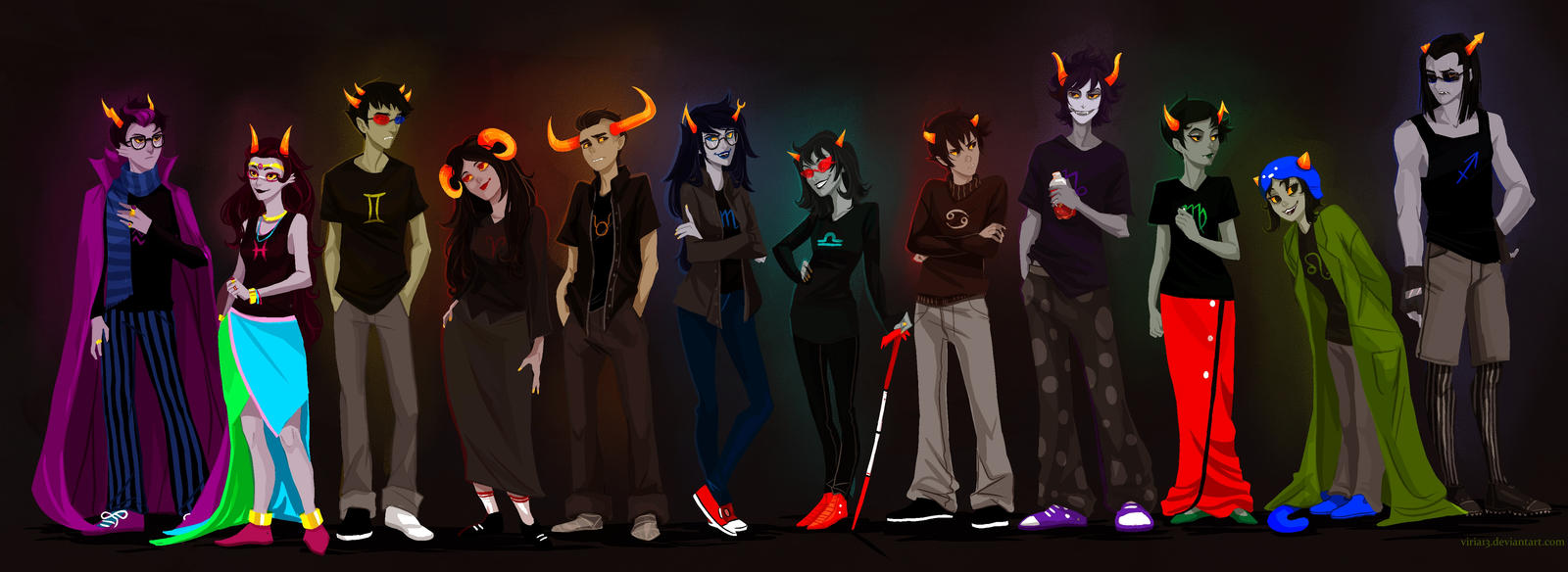 Homestuck trolls by viria13