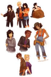 Heroes of Olympus genderbend by viria13