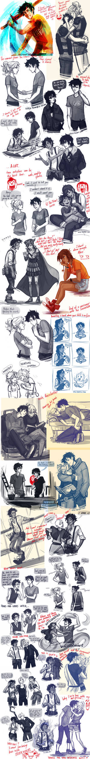 I clearly don't draw enough Percy Jackson...