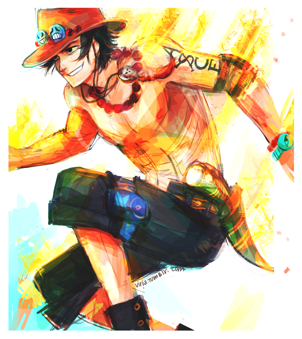 Portgas D Ace by viria13