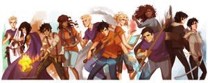 Heroes of Olympus by viria13