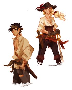 In which Percy is a pirate.