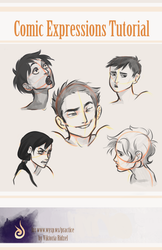 Comic expressions tutorial by viria13
