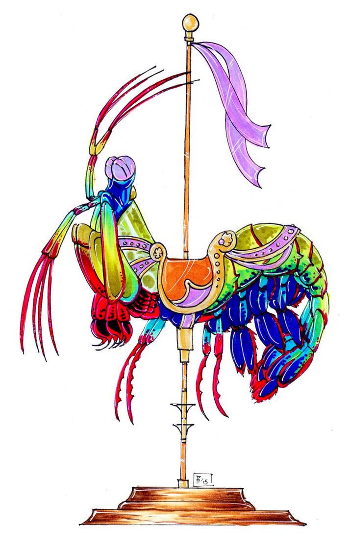 Mantis Shrimp Carousel by Verdego